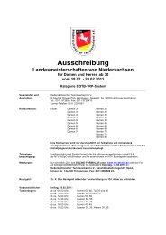Ausschreibung - Niedersächsischer Tennisverband e.V.
