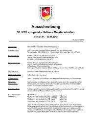 Ausschreibung (pdf) - Niedersächsischer Tennisverband e.V.