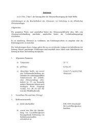 Anlage zu § 6 (2) S. 1 der Abwassersatzung - Stadt Mölln