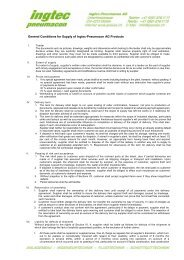 General Conditions for Supply of Ingtec-Pneumacon AG ... - ipswiss.ch