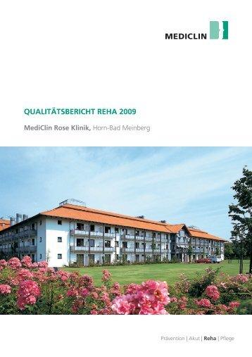 Qualitätsbericht 2009 - MediClin Rose Klinik
