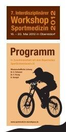 Programm - Arbeitsgemeinschaft interdisziplinäre Sportmedizin ...