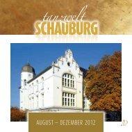 AUGUST — DEZEMBER 2012 - Tanzwelt Schauburg Iserlohn