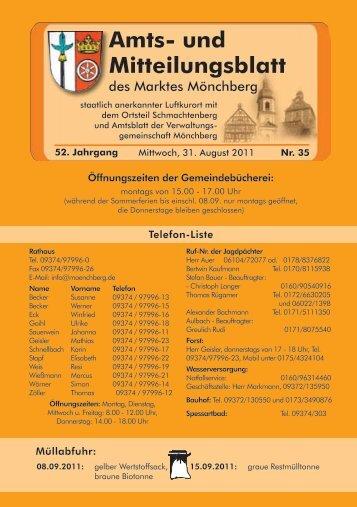 Amts- und Mitteilungsblatt - Mönchberg