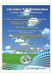 Festprogramm - TuS Holzkirchen Abteilung Turnen