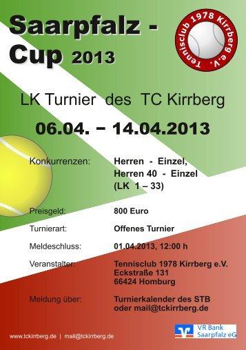 Saarpfalz Cup 2013 - Tennisclub 1978 Kirrberg eV