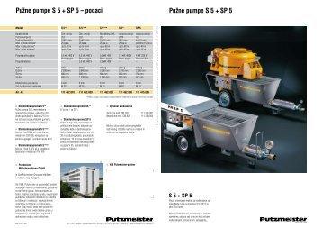 Pužne pumpe S 5 + SP 5 Pužne pumpe S 5 + SP 5 - Putzmeister ...