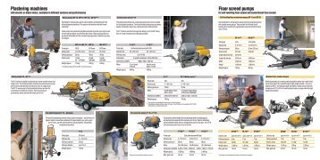 Plastering machines Floor screed pumps - Putzmeister ...