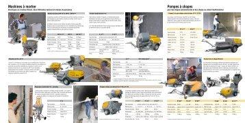 Machines à mortier Pompes à chapes - Putzmeister Mörtelmaschinen