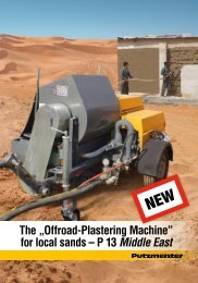 """The """"Offroad-Plastering Machine"""" for  local sands - Putzmeister ..."""