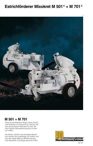 M 501 - Putzmeister Mörtelmaschinen