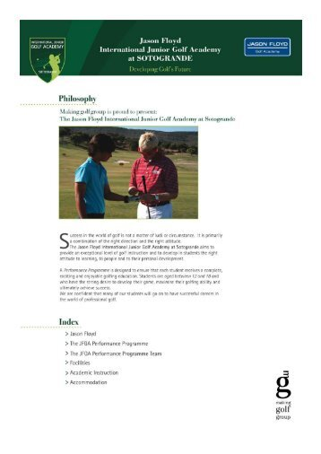 GOLF ACADEMY . . I - European Golf Association