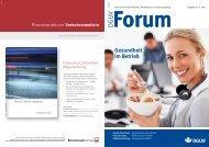 Gesundheit im Betrieb - DGUV Forum