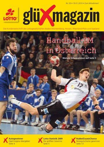 Handball-EM in Österreich Handball-EM in Österreich - SAARTOTO