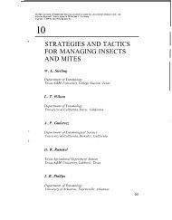 strategies and tactics for managing insects and mites - Texas A&M ...