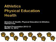 Athletics Physical Education Health - Commack Union Free School ...