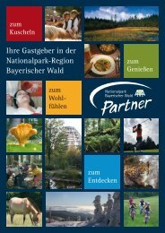 Broschüre Nationalpark-Partner - Postwirt Landhotel