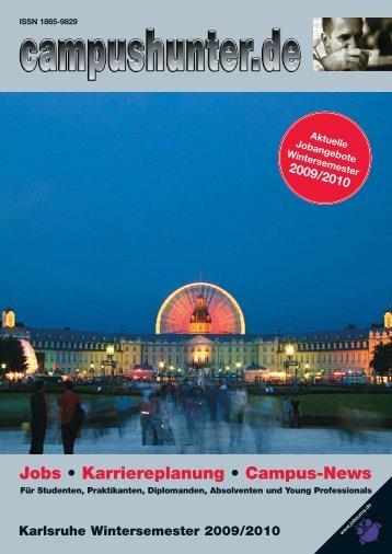 Ausgabe Karlsruhe - Wintersemester 2009 - campushunter.de