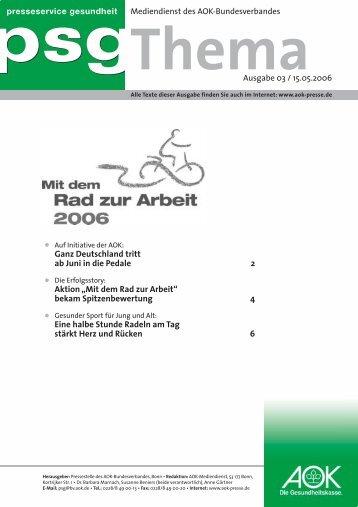psg Thema 03/06 - AOK-Bundesverband