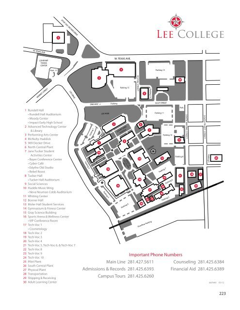 Campus Map And Service Area Lee College