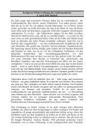 Predigt als PDF-Datei - Katholische Pfarrgemeinde Liebfrauen