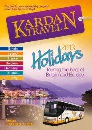 Download Brochure 2013 - Kardan Travel