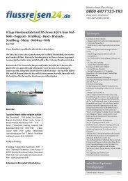 8 Tage Flusskreuzfahrt mit MS Arosa AQUA Kurs ... - Flussreisen 24