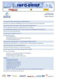 SBR Info-Brief 02/2011 - Sportbund Rheinland