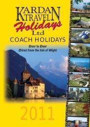 COACH HOLIDAYS - Kardan Travel