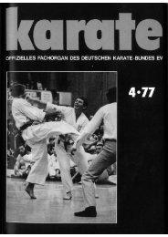 DKB-Fachorgan Nr. 4 - Chronik des Karate