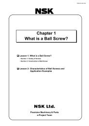 Chapter 1 What is a Ball Screw? - NSK