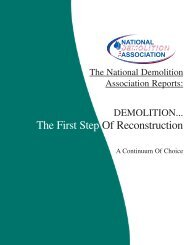 The First Step Of Reconstruction - National Demolition Association