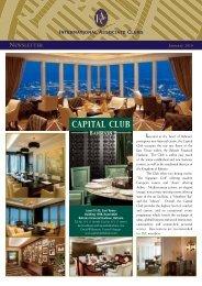 JAN 2010 Newsletter - International Associate Clubs