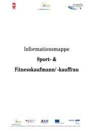 Informationsmappe Sport- & Fitnesskaufmann ... - Karriere im Sport