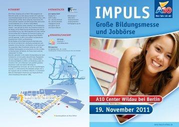 Große Bildungsmesse und Jobbörse - Impuls A10 Center Wildau