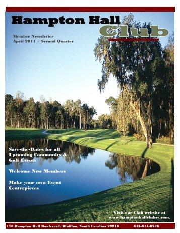 Member Newsletter - Hampton Hall Club