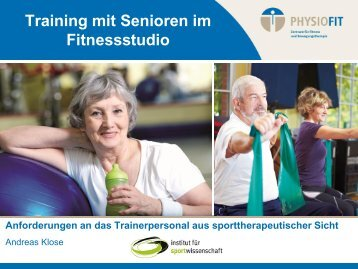 Training mit Senioren im Fitnessstudio - Physiofit Münster