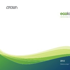 Global ecologic™ Report - Crown Equipment Corporation