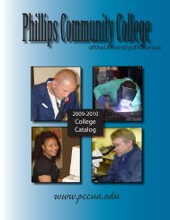 College Catalog 2009-2010 PDF - Phillips Community College