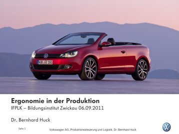 Ergonomie in der Produktion - AutoUni