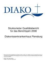 Unser Qualitätsbericht 2008 - DIAKO Flensburg
