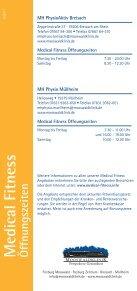 Medical Fitness Preise/Breisach, Müllheim Medical ... - Mooswaldklinik - Seite 2
