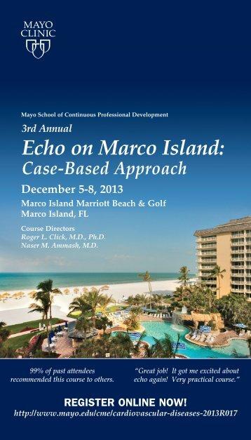booklet Echo in Marco Island - MC4052-67 - Mayo Clinic