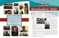 Summer 2012 Graduation Insert - Rehoboth Christian School