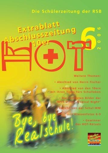 Extrablatt Abschlusszeitung der 10er – 2006 - Realschule Bopfingen