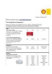 """Shell Gewinnspielauswertung – www.shell.de/heissepreise """"Vom ..."""