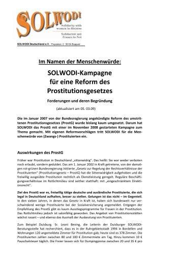 Forderungen für Gesetzesreformen und deren Begründung - Solwodi