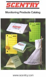 Monitoring Product Catalog - Scentry Biologicals, Inc.