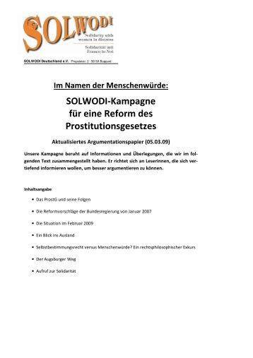 Argumentationspapier mit Informationen und ... - Solwodi