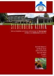 Hausprospekt der Silberberg-Klinik